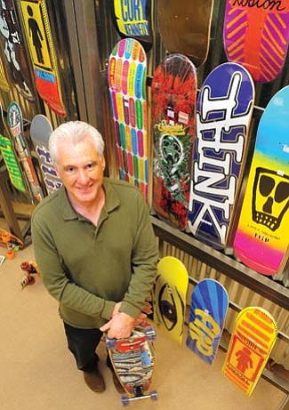 Les Stukenberg/The Daily Courier<br> Bob Culbertson is co-owner of Calavera Board Supply at the Prescott Gateway Mall.
