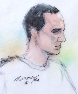Bill Robles/The Associated Press<br> In this courtroom sketch, Jared Lee Loughner, who is charged with shooting U.S. Rep. Garbrielle Giffords, D-Ariz., and 18 others in January 2011, appears in federal court for a mental competency hearing Sept. 28, 2011, in Tucson.