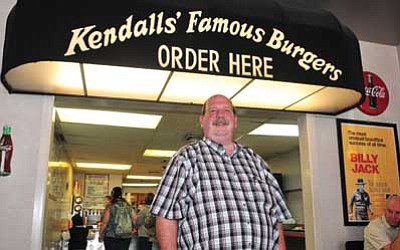 Les Stukenberg/The Daily Courier<br> Kendall Jaspers, owner of Kendalls' Famous Burgers & Ice Cream, at 113 S. Cortez St. in Prescott, has been in business since 1987.