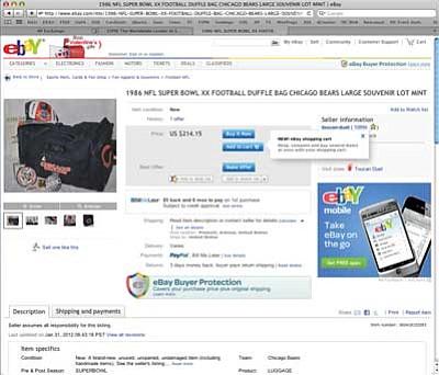 Roughrider Club Selling Past Super Bowl Memorabilia On Ebay The Daily Courier Prescott Az