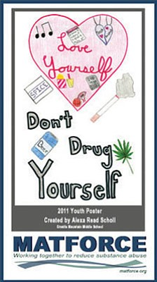 MATForce/Courtesy<br>The 2011 MATForce Youth Poster Contest winning entry was drawn by Alexa Read Scholl, formerly of Granite Mountain Middle School in Prescott.