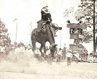 Sharlot Hall Museum/Courtesy photo<br> The Prescott Frontier Days' Rodeo was already into its sixth decade by the time of this circa 1930s performance in Prescott.