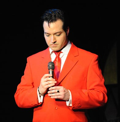 "Courtesy photo<br>Robert Shaw of Lonely Street Productions brings his ""How Great Thou Art: The Gospel Music of Elvis Presley"" concert to the Elks Opera House stage Sunday."