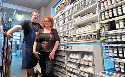 Matt Hinshaw/The Daily Courier<br /><br /><!-- 1upcrlf2 -->Keith and Ida Kendall, owners of The Art Store, have been in business for the past 18 years in Prescott and recently moved to a larger <br /><br /><!-- 1upcrlf2 -->location on Sixth Street.<br /><br /><!-- 1upcrlf2 --><br /><br /><!-- 1upcrlf2 --><br /><br /><!-- 1upcrlf2 -->