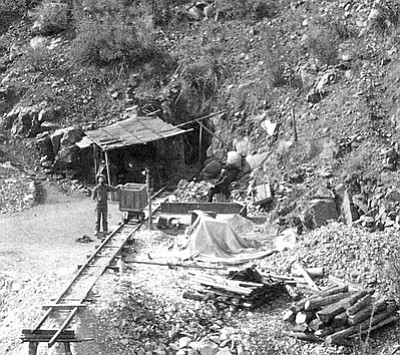 Sharlot Hall Museum/Courtesy photo<br>Catoctin Mine in the Hassayampa District was one of eventually hundreds of mines in Yavapai County.