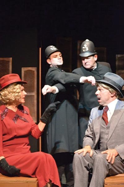 "Courtesy photo<br> Prescott Center for the Arts presents two weekends of ""The 39 Steps,"" based on an Alfred Hitchcock movie, beginning 7:30 p.m. Thursday at the 208 N. Marina St. theater. Director Linda Miller described the show as a fun, unconventional farce."