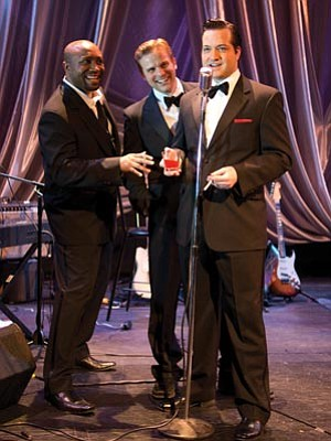 Courtesy photo<br>Walter Belcher, Kiel Klaphake and Robert Shaw will salute the Rat Pack and Friends in a concert Sunday at the Elks Opera House.