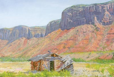 "Courtesy photo<br> Don Rantz, whose painting, ""Homestead – Delores River,"" is shown here, will be among Western artists from all over the country who will set up booths across the courthouse plaza for the Phippen Museum's 38th annual Western Art Show and Sale on Saturday, Sunday and Monday."