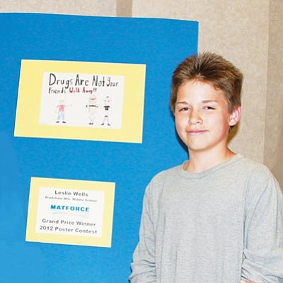 Courtesy photo<br>Leslie Wells, a 13-year-old Bradshaw Mountain Middle School student, was named Grand Prize winner of the annual MATFORCE Youth Poster Contest.