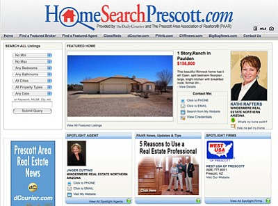 HomeSearchPrescott.com home page