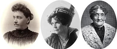 Courtesy photos<br> Pauline O'Neill (1865-1961), Frances Munds (1866-1948) and Josephine Hughes (1839-1926) were contemporaries and partners in the suffragist movement in Arizona.