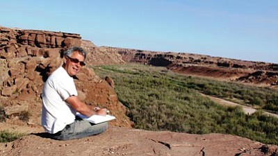 Courtesy photos<br> Patrick Putnam takes notes on the Navajo Reservation. Below, Rufus Putnam was the first U.S. surveyor general.