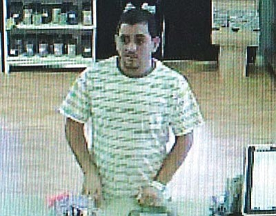 YCSO courtesy photo<br>Video surveillance shows a suspect in a July 9 Spring Valley pharmacy burglary.