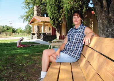 Les Stukenberg/The Daily Courier<br> Karry Lewis is the manager of Sterling Ranch in Skull Valley.