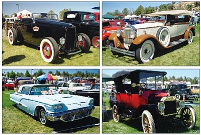 Courtesy photos<br> Classic cars like these from the 2011 Prescott Antique Auto Club show will be on display at this year's edition 5:30 a.m. to 5 p.m. Saturday, Aug. 4, and from 6 a.m. to 3 p.m. Sunday, Aug. 5, at Watson Lake.