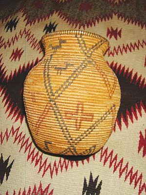 Courtesy photo<br>Hand-woven baskets are among the items on sale at this weekend's art show.