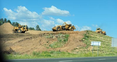Les Stukenberg/The Daily Courier<br>Fann Contracting will build two extra lanes on Highway 69 between the tribal connector and the road up to the Prescott Resort to make that stretch of Highway 69 a six-lane road.