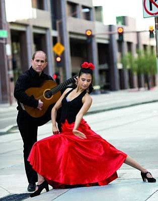Courtesy photo<br> Chris Burton-Jacome and Lena Jacome are flamenco artists who will perform with a host of other composers and musicians Sunday in a concert in Prescott.