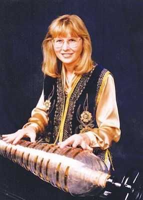 "Courtesy photo<br>Prescott Valley resident Lynn Drye will play Claude Debussy's ""Reverie"" on the glass armonica 3 p.m. Sunday at Trinity Presbyterian Church in Prescott."
