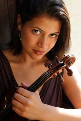 Courtesy photo<br> Guest soloist violinist Elena Urioste will perform at the Phoenix Symphony's concert in Prescott Sunday at Yavapai College Performing Arts Center.