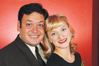 "Courtesy photo<br> Alex Flores and Rebecca Carlson perform ""When You're Smiling – A Salute to Louis Prima"" 7 p.m. Saturday at the Elks Opera House."