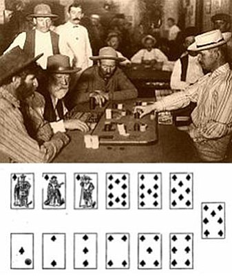 Courtesy photo<br>Nary a saloon in the West was without the card game of faro between 1825 and 1915, shown here in an Arizona saloon in 1895.