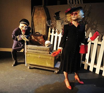 Les Stukenberg/The Daily Courier<br> Laura Prosseda as Winnie Ruth Judd and the Ghoul Porter will be one act in the annual Prescott Center for the Arts Ghost Talk. The production runs Oct. 26 and 27 at 6 and 7:30 p.m. both nights at the theatre on Marina Street.