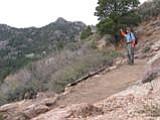 Hiking toward Hualapai Peak