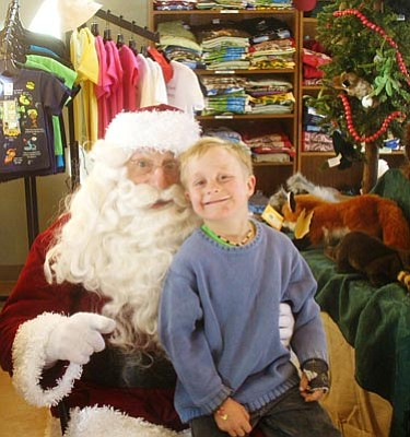 Courtesy HCNH<br>Santa will be visiting with children all day Saturday during the Highlands Center's holiday bazaar.