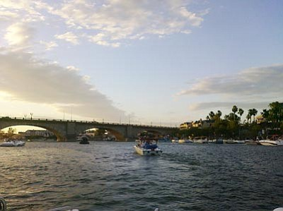 Courtesy photo<br>Boats cruise on the Colorado River's Lake Havasu. A five-year deal with Mexico will mean an additional one-time allocation of nearly 100,000 acre-feet of water to the U.S.