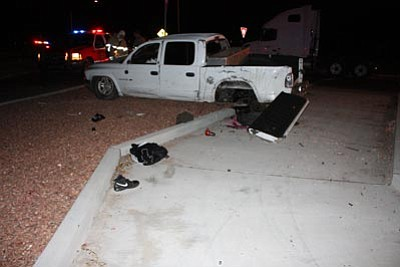 Chino Valley Police Department/Courtesy photo<br> A Chino Valley man died Saturday at a Phoenix hospital from injuries he received in a single-vehicle rollover on Highway 89 at Outer Loop Road.