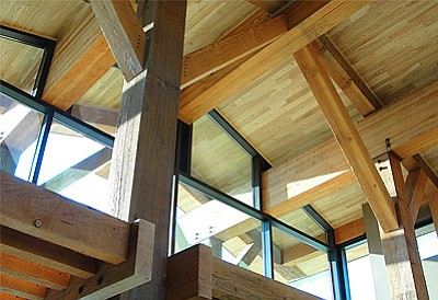 The Net-Zero Energy San Luis National Wildlife Refuge Visitor Center designed by Prescott-based Catalyst Architecture.