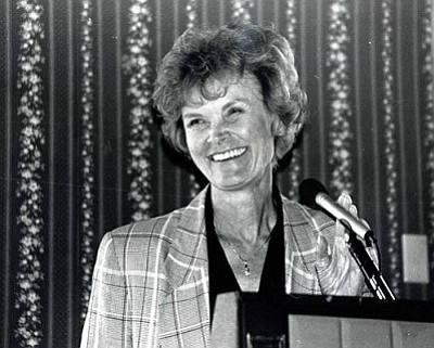 The Daily Courier/file photos<br>As a state senator in 1998, Carol Springer was instrumental in the move to contain increasing vehicle license taxes.