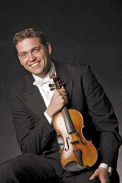 Courtesy photo<br> Violin soloist Steven Moeckel is the featured musician fin a Phoenix Symphony performance Sunday.