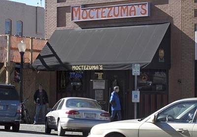 Felicia Fonseca/The Associated Press<br> Moctezuma's on Whiskey Row in downtown Prescott was the scene of a fight allegedly involving off-duty police officers Dec. 22, 2012.