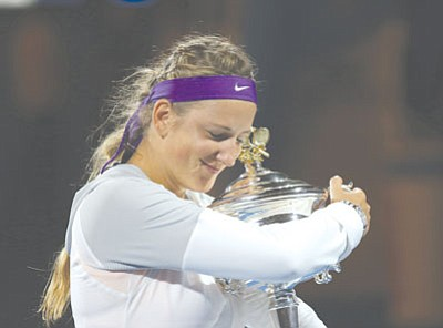 Aaron Favila/The Associated Press<br> This year's Australian Open champion, Victoria Azarenka of Belarus, is among the field competing this March at the Indian Wells Tennis Garden.