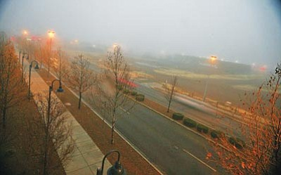 Matt Santos/Courtesy photo<br>Wet weather gave rise to fog followed by snow in Prescott Valley Jan. 26.