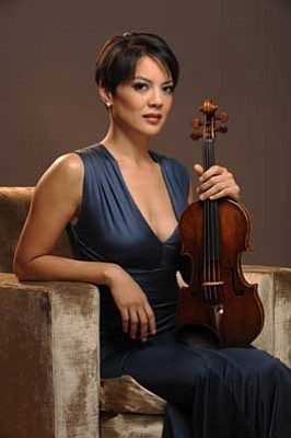 Courtesy photo<br> Violin soloist Anne Akiko Meyers will appear in Prescott with the Phoenix Symphony  on Sunday, Feb. 10.