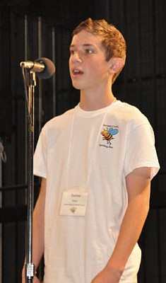 Heidi Dahms Foster, Prescott Valley Tribune/Courtesy<br>Daxton Bryce won the county spelling bee for the second year in a row.