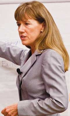 Courier file<br> Yavapai County Attorney Sheila Polk, seen here during the 2011 trial of James Arthur Ray, is expected to testify today in Superior Court.