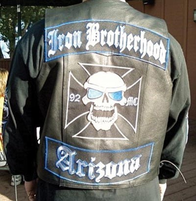 Courtesy photo<br> This photo from the website of the Iron Brotherhood's Whiskey Row chapter shows the group's jacket insignia.