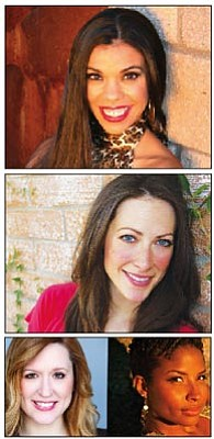 Courtesy photos<br>Melissa Alejandra. Erin Helm, Heather Dispensa and Crystal Start are the Doo-Wop Divas, who will perform at the Elks Opera House Saturday.