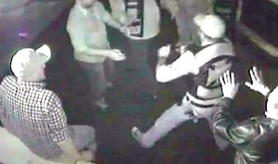 "Courtesy image<br> Footage from Moctezuma's security cameras shows Iron Brotherhood members fighting customers and employees. The video contains select sequences from different cameras mounted in the bar and was obtained by The Daily Courier from the Arizona <A HREF=""http://www.azdps.gov/"">Department of Public Safety</A> through an Arizona Public Records Law request."