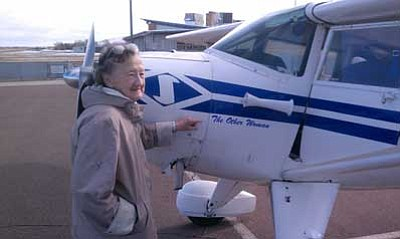 Irene Leverton prepares for a flight in 2012. (Mike Coligny/Courtesy photo)