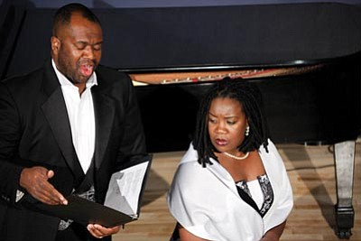 Courtesy photos<br>Earl and Alexis Hazell of Tempe, above, and Darrell and Linda Rowader of Cherry, below, will sing selections from the Great American Songbook Saturday at the Prescott Center for the Arts. Visit www.pca-az.net or call 445-3286.