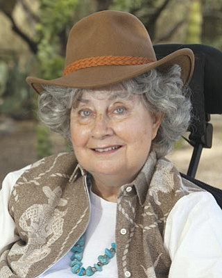 """Courtesy photo<br> Terry Earp will put on a one-woman play, """"Lark: A Cowboy Woman's Life,"""" Saturday at the Sharlot Hall Museum. Cowboy women, Earp says, """"killed our own snakes."""""""