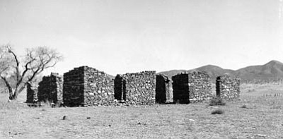 Sharlot Hall Museum/Courtesy photo<br>Ruins of the King S. Woolsey ranch house on the Agua Fria River are located just off the Old Black Canyon highway in Dewey-Humboldt.