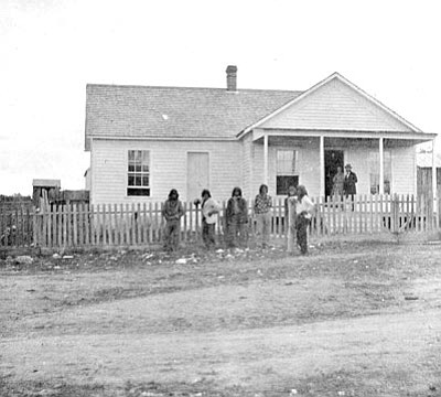 Sharlot Hall Museum/Courtesy photo<br>The J.A. Merrill Residence, photographed by D.F. Mitchell in the 1870s, was a typical Prescott 1870s Victorian cottage.