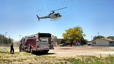 Courtesy Chino Valley Police<br> A Prescott man was flown to Flagstaff Regional Medical Center Wednesday after an accident on Highway 89 in Chino Valley