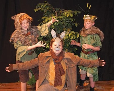 "Courtesy<br>Young actors perform in the The@trics Theatre production of Shakespeare's ""A Midsummer Night's Dream."" The play will be the thing for three performances on Friday and Saturday in the First Congregational Church's Perkins Hall."